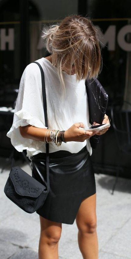 black + white. working outfit. street style.