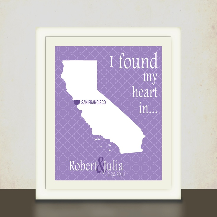 Personalized Wedding Gift Art Print