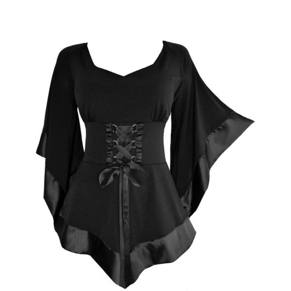 Dare To Wear Victorian Gothic Women's Plus Size Treasure Corset Top ($63) ❤ liked on Polyvore featuring tops, shirts, corset, gothic, victorian shirt, gothic shirts, shirt top, goth shirts and women's plus size shirts