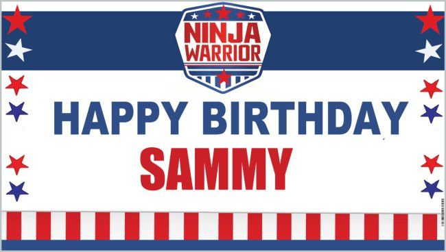 Personalized Birthday Banner - NINJA WARRIOR SPORT