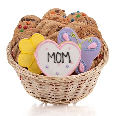 Just For Mom: Mothers Day Cookie Gift Basket at Gift Baskets Etc