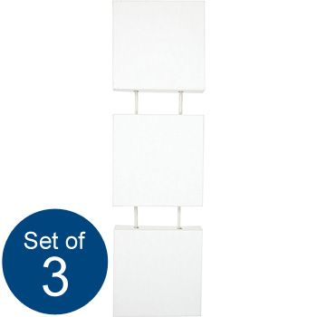 Set of 3 Hanging Canvases 8''x8'' | cheap Stretched Canvases at The Works