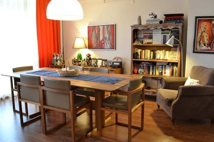 Didem B. Evi #Karşıyaka - #Yemek Masası ve #Ceviz Rengi Laminant Parke