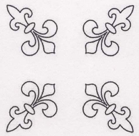 Quilt Stencil Fleur De Lis 11in