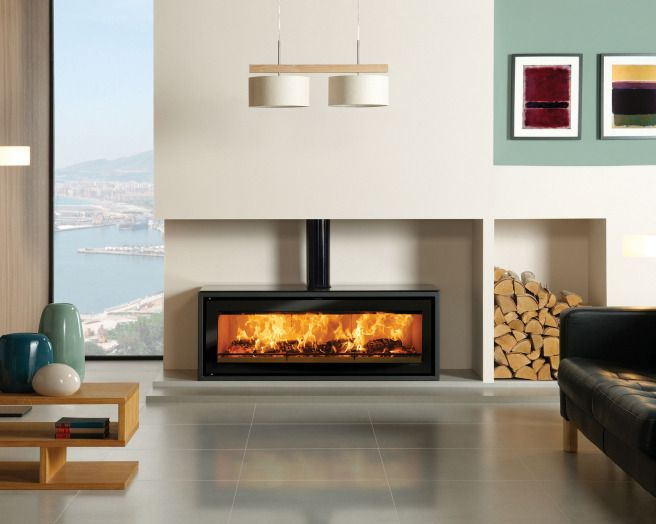 17 best ideas about modern log burners on pinterest log for Modern wood fireplace