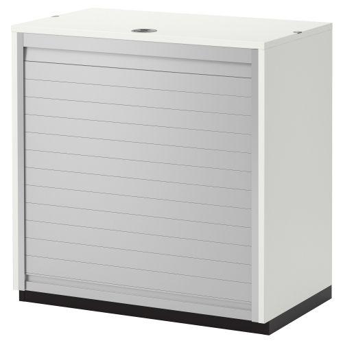 GALANT Armario con puerta de persiana 80x80 blanco