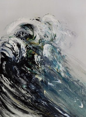 One of our exhibiting artists in the Power of the sea! Maggi Hambling Wave