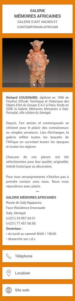 Galerie d'Art : Mémoires Africaines