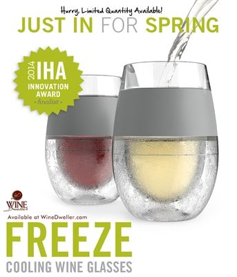 Freeze Cooling Wine Glasses...just in case someone wants to get me a birthday gift.