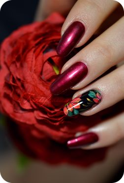 nail zhostovo fleur lotus