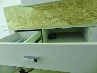 gaveta falsa - cuba semi-encaixe Deca L800