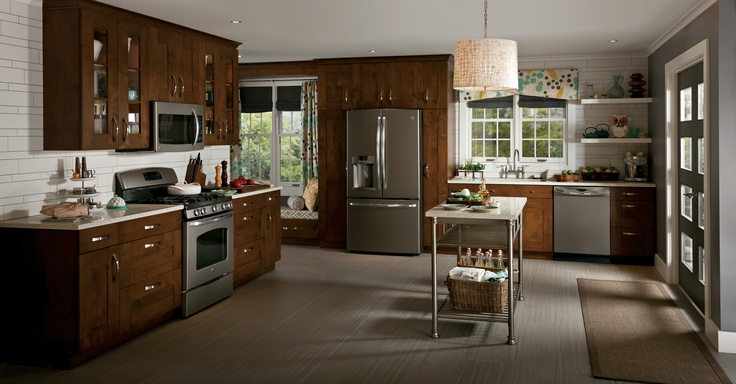 2012: GE introduces Slate - a warm, grey matte, low-gloss metallic finish. Slate is a premium alternative to stainless steel and complements a wide spectrum of wall colors, countertop materials and floor and cabinetry finishes. #appliances