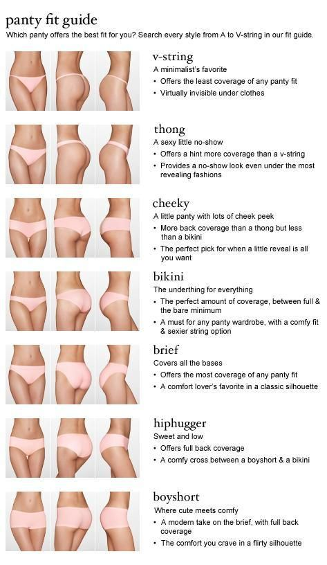 guide to panties infographic