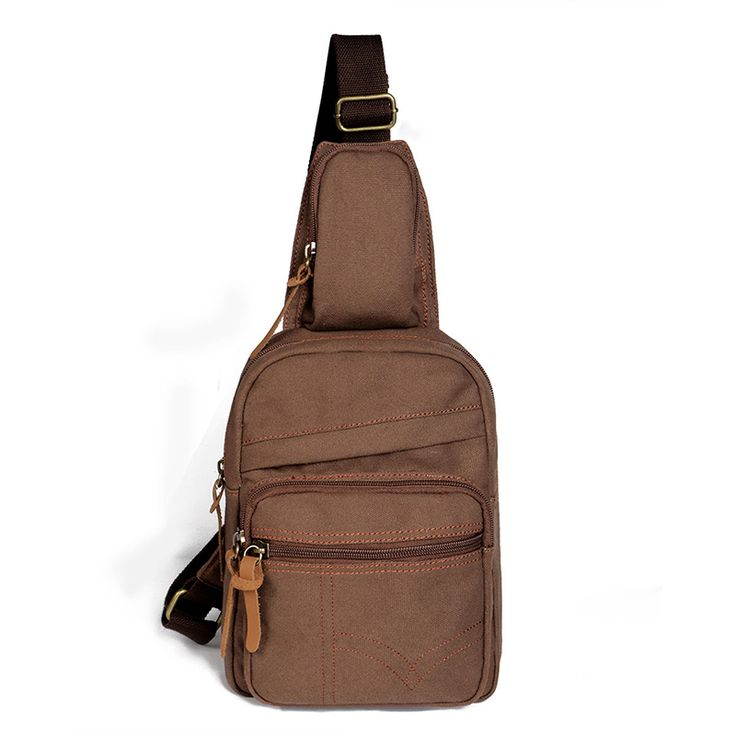 Advocator Vintage Canvas Shoulder Bags Crossbody Bag Stylish Messenger Bag Travel Satchel Bag for Men Casual Package Chest Pack