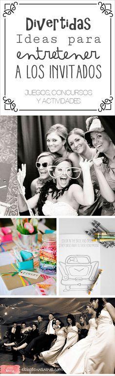 Divertidas Ideas para entretener a los Invitados de la Boda   El Blog de una Novia   http://www.elblogdeunanovia.com/la-fiesta/divertidas-ideas-para-entretener-a-los-invitados-de-la-boda/