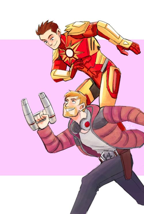 De-stressing with some starkquill. The GOTG Avengers Academy designs look so dang cool, I just had to draw them! I've got Tony's armor and recruited Peter so far, can't wait to get the other guardians. :)