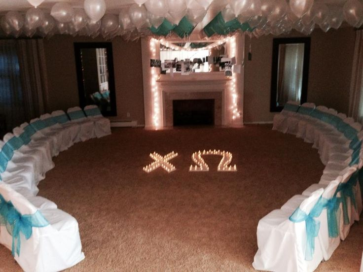 beautiful preference ceremony set-up. @Delta Phi Epsilon Alpha Sigma  Let our 15 years of experience help you hire great tech talent. Contact us at carlos@recruitingforgood.com