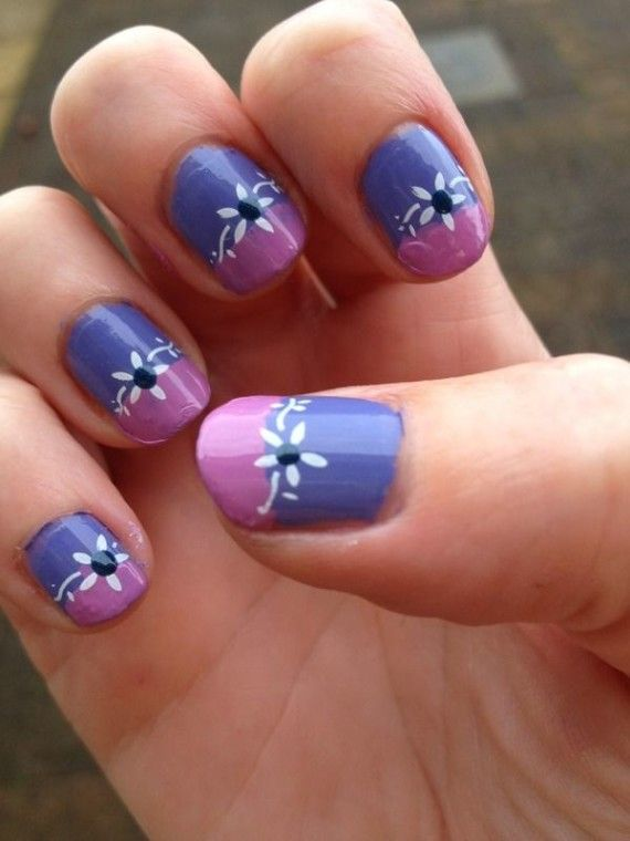 U as decoradas con flores flower nails u as bellas - Pintados de unas faciles ...