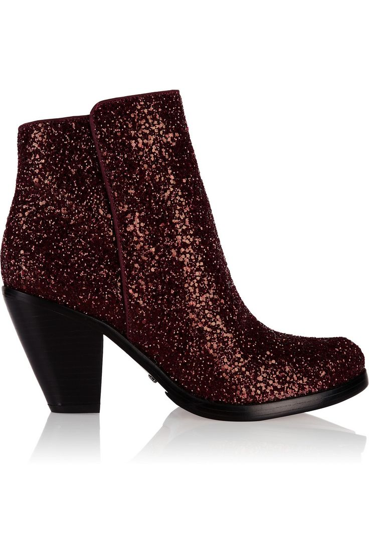 Shop Schutz Glitter Finished Leather Boots Red and more Women's Boots from  all the best online stores.