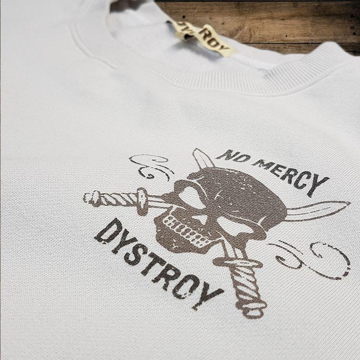 """DYSTROY Sweatshirt """"NO MERCY"""" Chestprint https://www.dystroy.com/Hoodies/Sweatshirt-No-Mercy-dirty-white.html"""