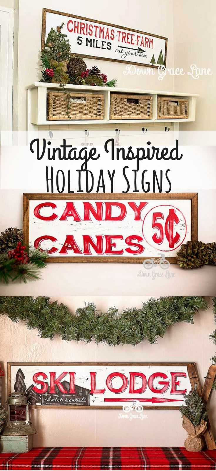 Christmas wooden christmas memories hanging sign sold out - Hand Painted Framed Vintage Inspired Holiday Signs Christmas Ad Sign Wood