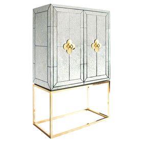 Delphine Mirrored Bar Cabinet