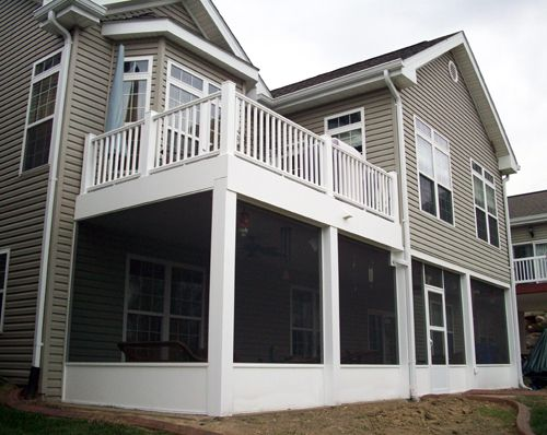 1000 ideas about two story deck on pinterest second Two story sunroom