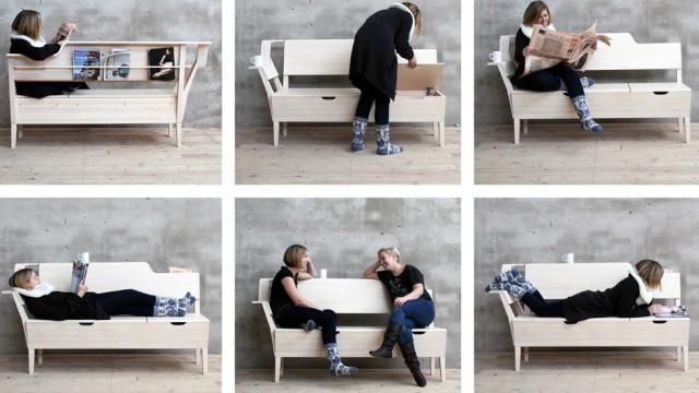 "Multifunktional: ""Scandi Bench"" von Plus Function"