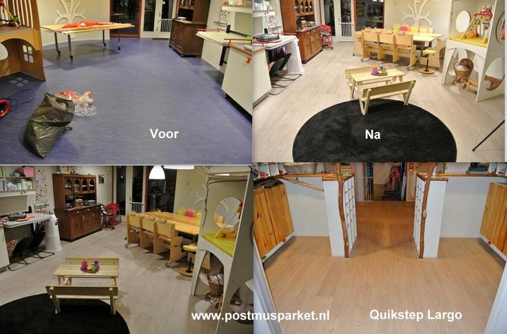 Quickstep Geleverd gelegd.  Kinderdagverblijf Groningen   De Quick-Step Largo planken zijn bijzonder - het zijn de langste en breedste planken  en zullen jouw kamer ook bijzonder maken. Met hun lengte van meer dan twee meter stralen ze klasse en kwaliteit uit.