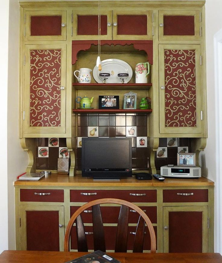 21 best images about stenciled cabinet doors on Pinterest  Hand