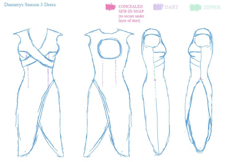 sketches for blue season 3 dress