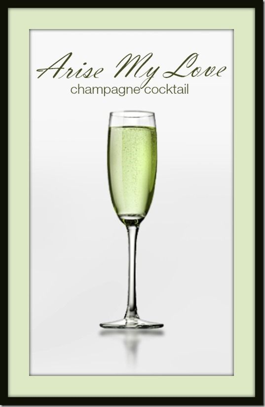 Arise my love champagne cocktail recipe just 2 for Cocktail 2 ingredients