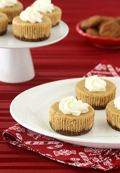Gingerbread Cheesecake Cupcakes | Recipe | Bite size, Dessert tables ...
