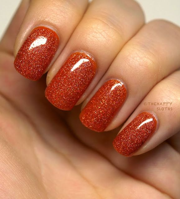 Love this burnt orange glitter look Carpe Noctem Cosmetics Holiday Nail Polish Collection (Part 2): Review and Swatches