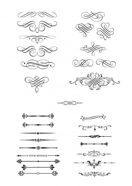 Classic European Pattern 03 450x636 これは使える!アンティークなベクターデザイン枠・飾り罫の詰め合わせ(AI・EPS) Free Style