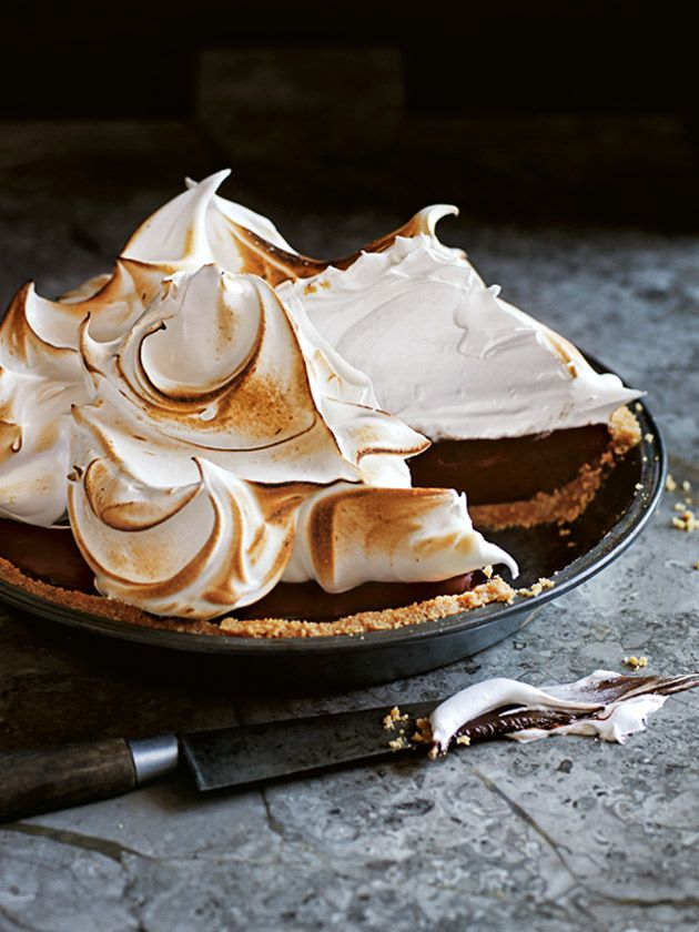 Chocolate Smore Meringue Pie | Donna Hay