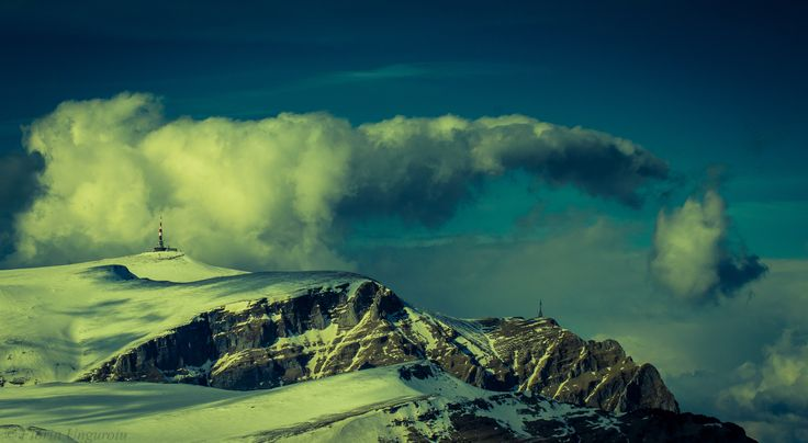Ready for the ''strike'' - One of the most interesting clouds I've ever seen  in front of my eyes, resembling with a big bird of prey racing to atack it's ''victim''. Photo taken near Furnica Peak (elev. 2103m), located in the Bucegi Massif, Romania.