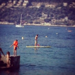 My daughter's first stand up paddle experience. Siitä se alkaa.