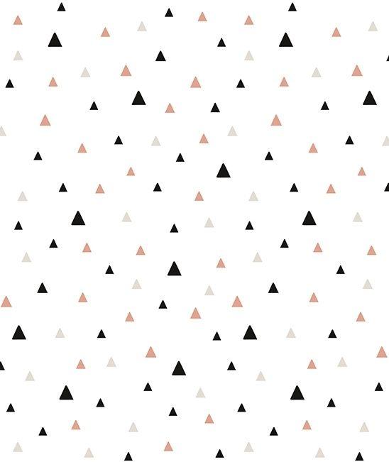 Origami Play Driehoekjes Koraal A - Behang (type A)
