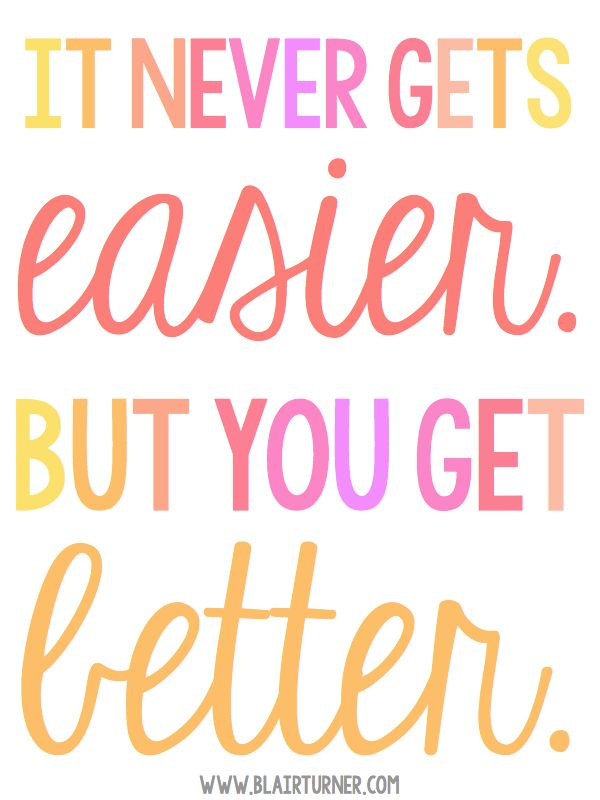 It Never Gets Easier - this post is for anyone who needs a little encouragement…