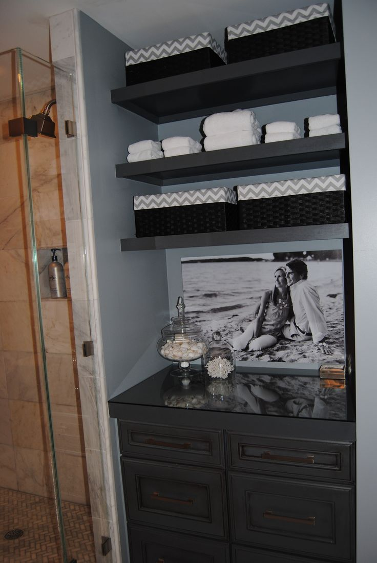 Master Bath Remodel Linen Closet Converted To Open