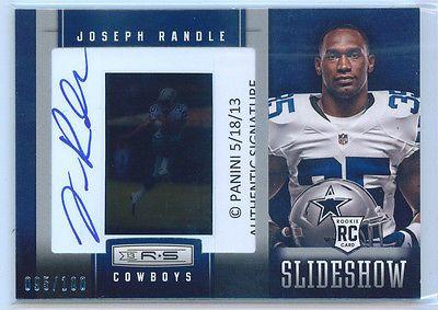 Joseph Randle 2013 Rookies & Stars Slideshow Auto rookie 95/100 R&S Rc Cowboys