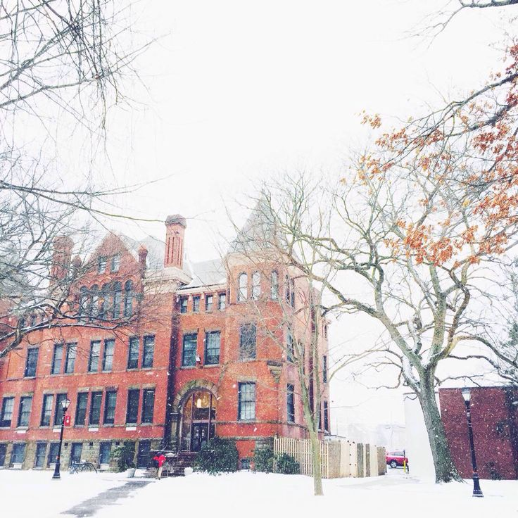 The snow covered Rutgers