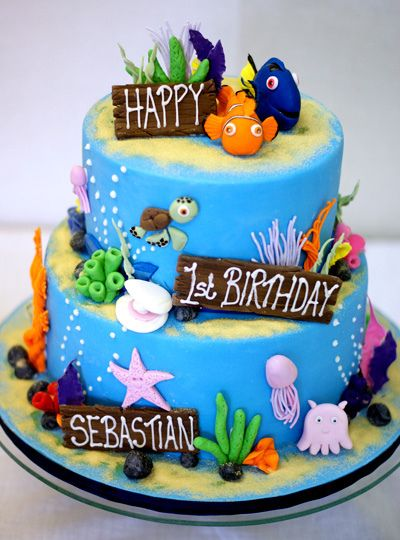 46 best Nemo Dory Cake Ideas images on Pinterest Birthday