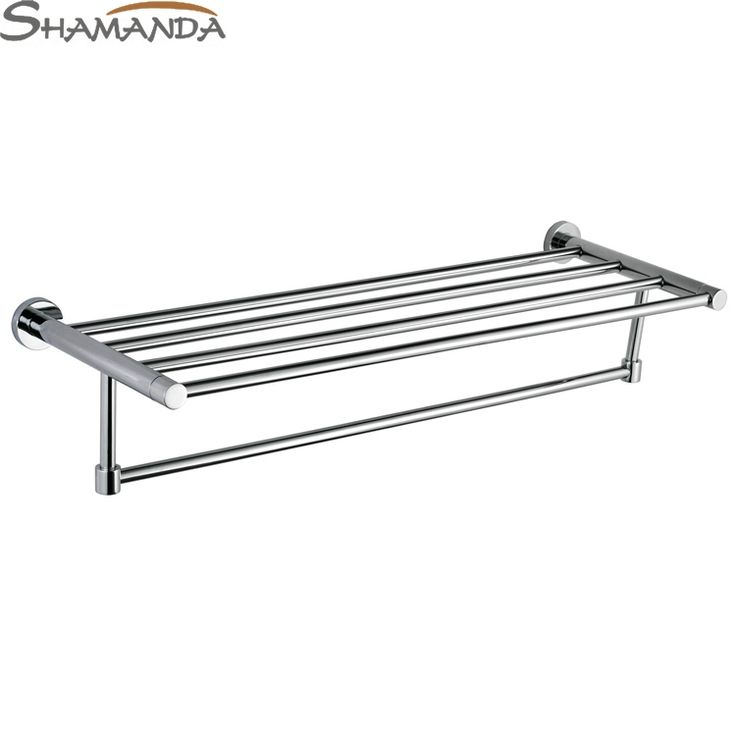 68.78$  Buy here - Free Shipping Fashion Modern Bathroom Accessories Products Solid Brass Chrome Finished Double-Decks Towel Rack,Towel Bar-96011  #aliexpresschina