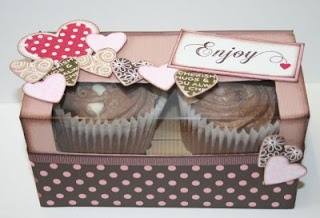 How to make a double cupcake box.Crafts Ideas, Double Cupcakes, Cupcakes Boxes, Cupcake Boxes, Handy Crafts, Box Templates, Paper Crafts, Cupcakes Rosa-Choqu, Boxes Templates
