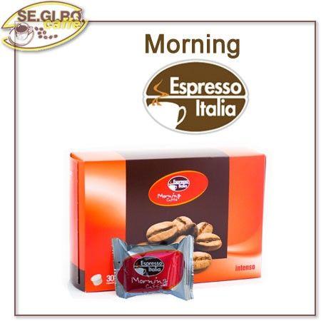MORNING Caffè dal Tono Deciso Il Caffè Del Buongiorno Tutto il Sapore e la Carica del Caffè all'Italiana - Confezione  Cialde Monodose