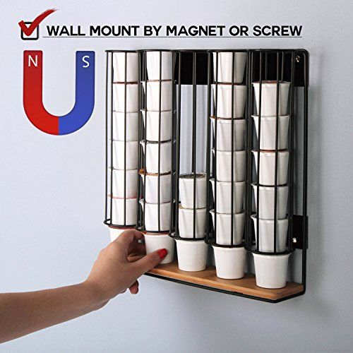 Jackcubedesign Magnet Wall Mount Magnetic Bamboo For 35 K Https Www Amazon Com Dp B01my7318l Ref Cm Sw R Pi Dp U K Cup Holders K Cup Storage
