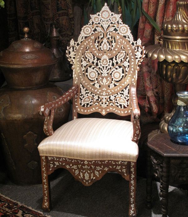 Furniture Photograph: Elegant Moroccan Arm Chair, Moroccan .
