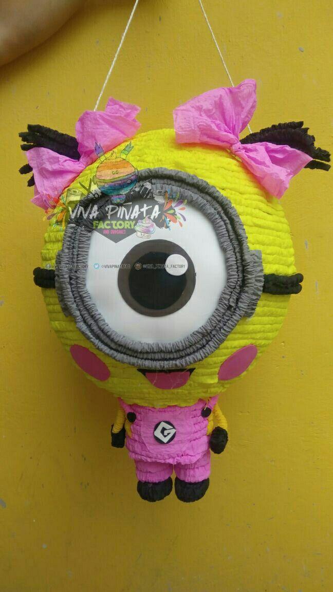 Piñatas #Minion #Rosa es de lo nuevo que que nos han pedido de Minions y próximamente diseños de Mi Villano Favorito 3 #WeddingIdeasTematic